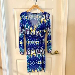 NWOT Bright Blue Wrap Dress Size: PP